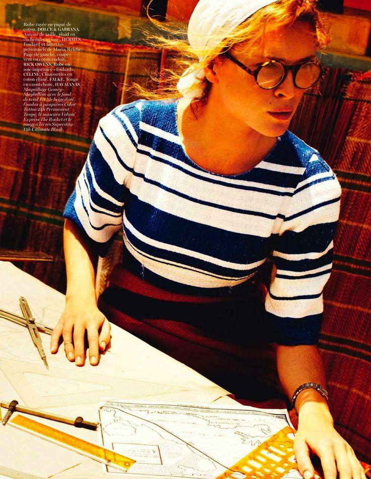 les lignes de nazca: erin wasson by mario testino for vogue paris april 2013   visual optimism; fashion editorials, shows, campaigns & more!