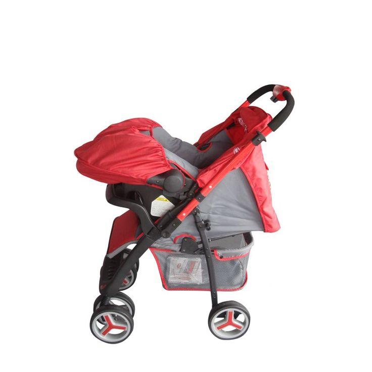 Sistema de Viaje Zap Bebesit J2906C03R-Rojo