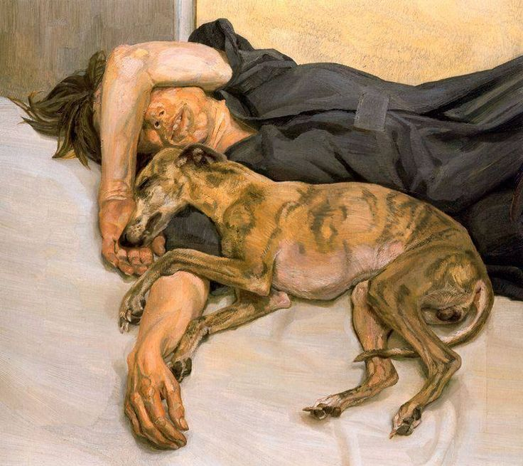 Lucian Freud, Double Portrait (oil on canvas, 1985-86, Private Collection).