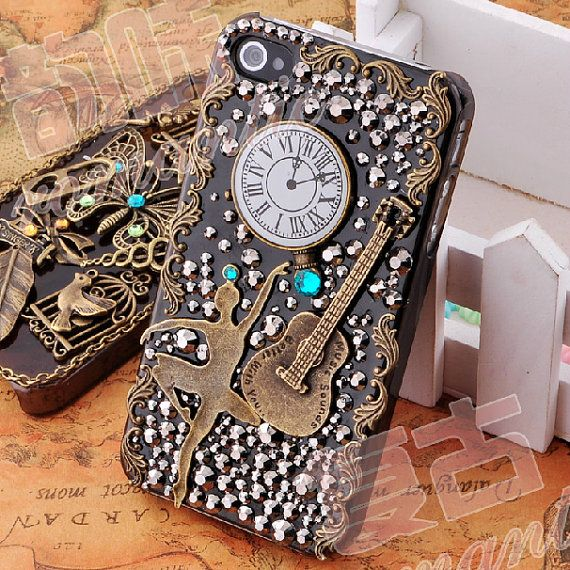 Vintage Dancing Girl DIY phone case set  DIY cell phone case deco kit (Phone Case not Included)