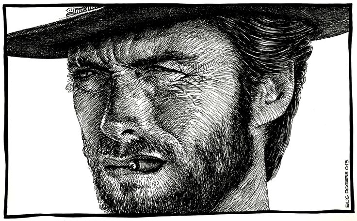 Clint Eastwood tribute by EnricBug