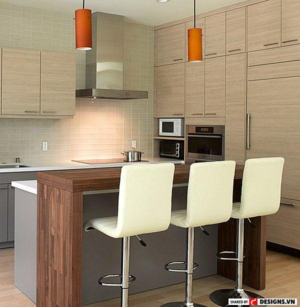 Thêm những thiết kế quầy bar đẹp cho không gian bếp