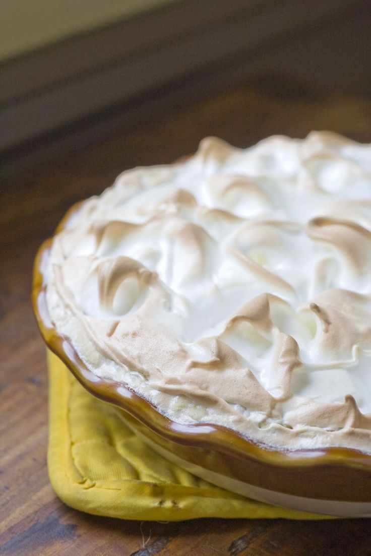 Maple Buttermilk Pie with Meringue by The Vintage Mixer