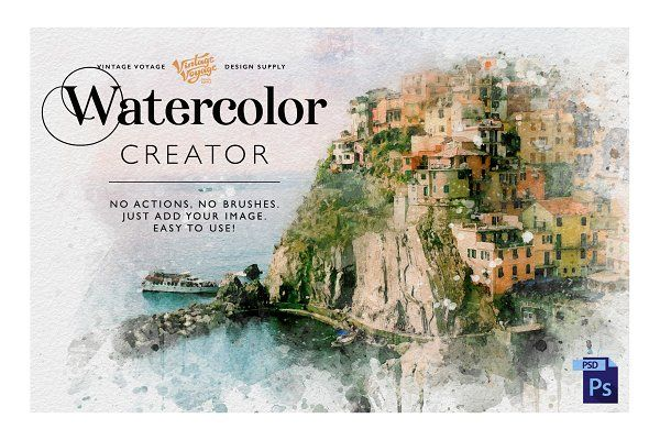 Ad Watercolor Creator By Vintage Voyage D S On Creativemarket