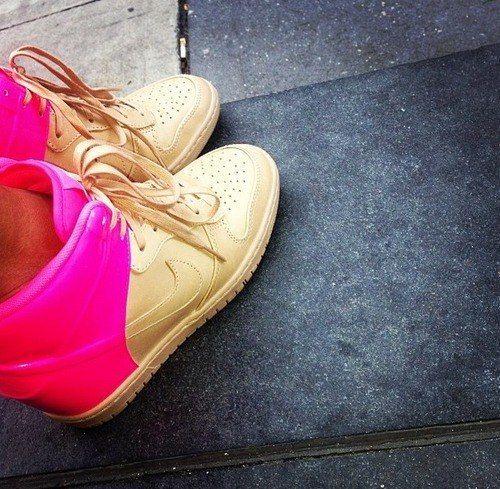nike wedges sale karrueche tran wearing pink lou boutins