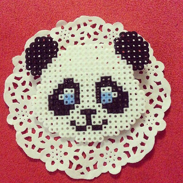 Panda bear perler beads by season322