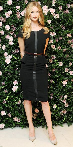 You could totally wear Rosie Huntington-Whiteley's whole outfit to work. If you figure out how to get your hair to look like that, let us know: http://www.peoplestylewatch.com/people/stylewatch/gallery/0,,20624519,00.html#Rosie Huntington Whiteley, Black Dresses, Models Actresses, Victorias Secret Models, Actresses Rosie, Victoria Secret, Rosie Huntingtonwhiteley, Peplum Dresses, Black Peplum
