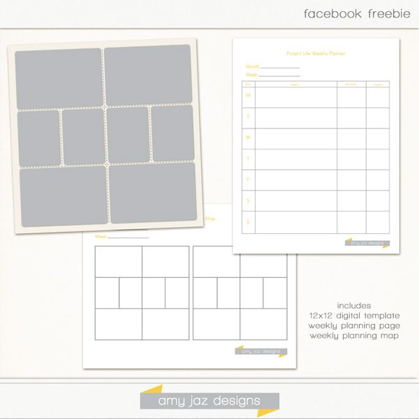 Freebie Amy Jazz Project Life Planning Pages and Template: From…
