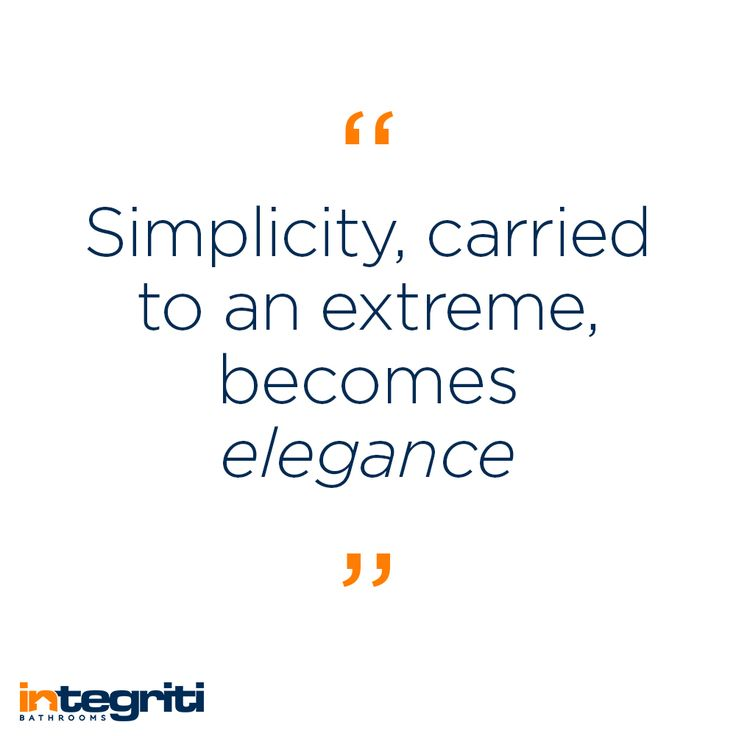 Always keep in mind, less is more! Simplicity and subtlety can create elegance and sophistication. #integritibathrooms #custommade #sydneybathroom #interiordesign #bathroom #quote