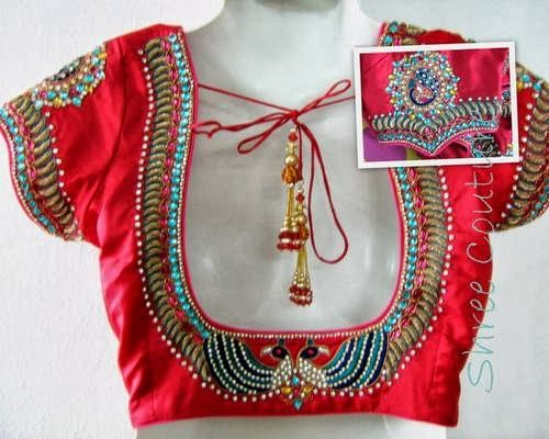 Broad Blouse Designs with Simple Work | Saree Blouse Patterns