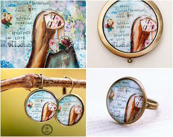 Inspirational art :)  https://www.etsy.com/shop/LadyArtTalk #whimsical #inspirational #art #print #jewelry #fashionjewelry #fashionring #girljewelry #womanjewelry #selfesteem