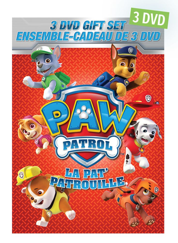 Pat'Patrouille - Ensemble cadeau de 3 DVD -  Durée : 220 minutes -  Langue : français - anglais -  Référence : 45386 #Dvd #Cadeau #Film #Enfant