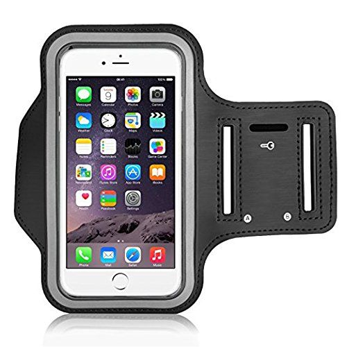 JCA Armband,Water Resistant Sweat Proof Running Exercise Gym Workout Sport band(5.5 inch) With Key Holder For iPhone 7 Plus,iPhone 6 Plus,S7 Edge,OnePlus 3,Nexus 6P, Moto G4 (Black). PREMIUM QUALITY MATERIALS: Our iPhone 7 Plus /6S Plus/6 Plus Armband Case Is Made Of Highest Quality stretch resistant Lightweight Soft Neoprene. The Armband Case Easily Flex, Twist, Bend and folds without warping. Functionality: Our Armband Offers Full Screen Coverage Yet You can enjoy the full use of your...