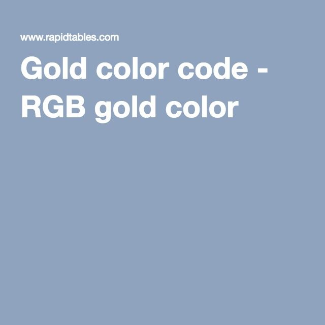 Gold color code - RGB gold color