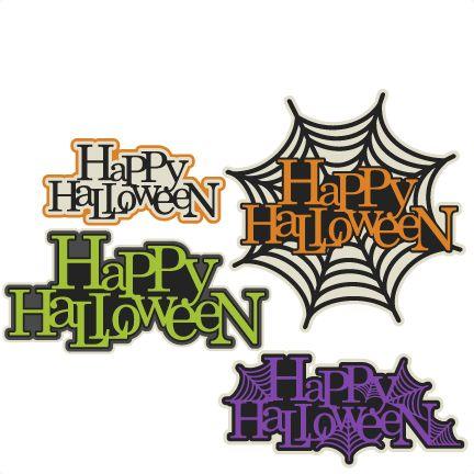 happy halloween title set svg scrapbook cut file cute clipart files for silhouette cricut pazzles free