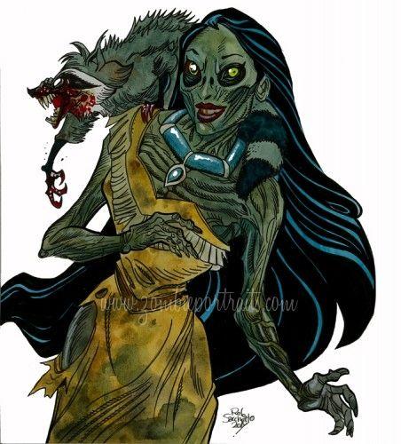 zombie princess   ... » Zombie Pocahontas : New Disney Princesses of the Living Dead                                                                                                                                                                                 More