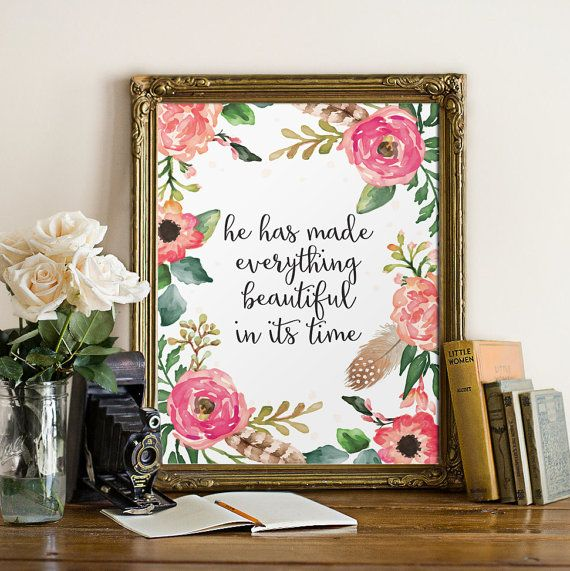 Christian verses for the wall Bible verse art by TwoBrushesDesigns