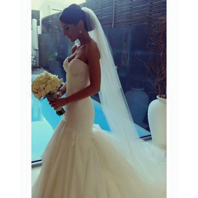 Custom Mariana Hardwick gown - REAL BRIDE