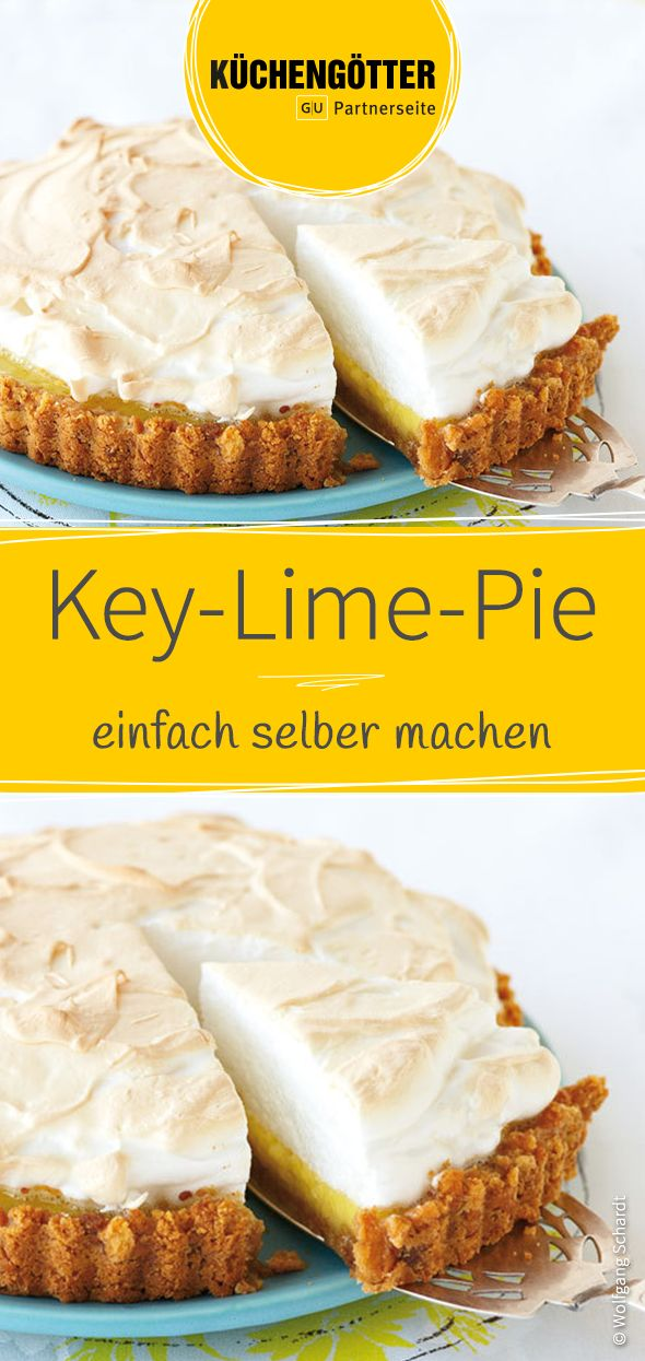 Der Klassiker aus den USA: Unser Rezept für fruchtig frischen Key-Lime-Pie.