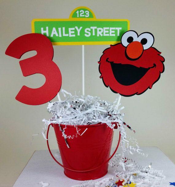 Elmo Centerpiece Elmo Birthday Personalized Elmo Sesame