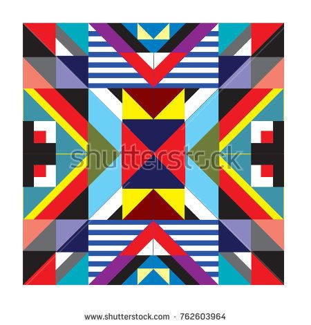 Trendy geometric elements memphis pattern. Retro style texture, pattern and elements. Modern abstract design from Borneo Indonesian culture
