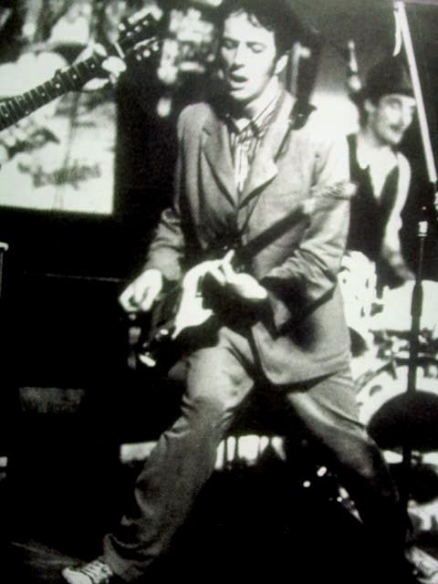 Joe Strummer as a member of The 101ers - his band before joining The Clash.