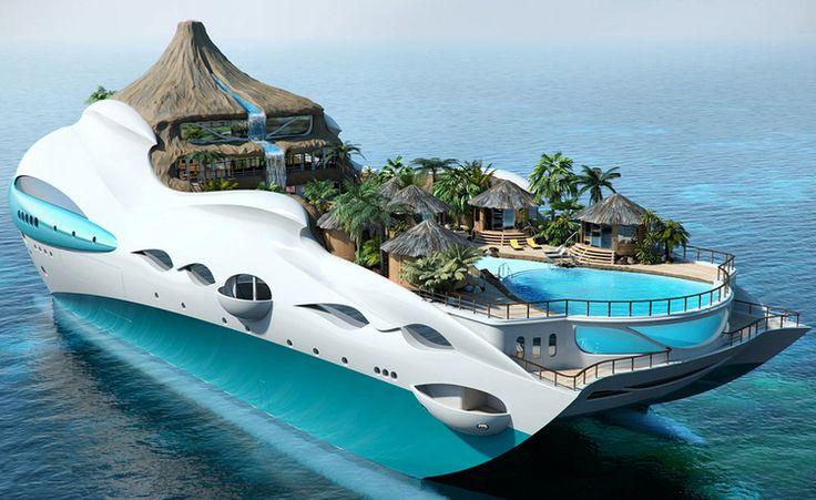 Amazing Yachts: Tropical Island Paradise Yacht concept designed by british company Yacht Island Design