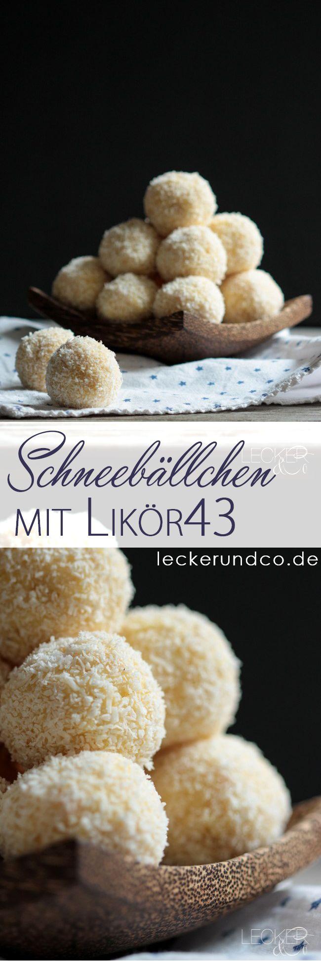 Schneebällchen mit Likör43 und Kokos