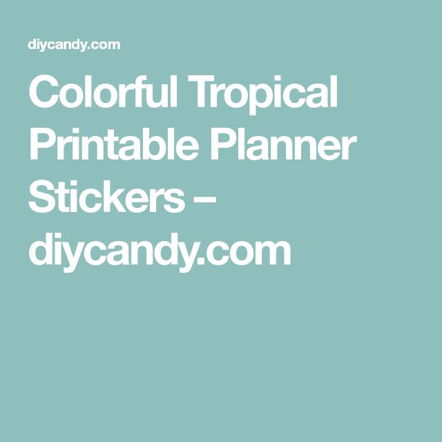 Colorful Tropical Printable Planner Stickers – diycandy.com