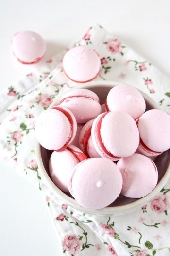 Macarons with Raspberry Buttercream