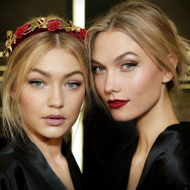 maquiagem incrível e inspiradora do desfile Dolce e gabanna