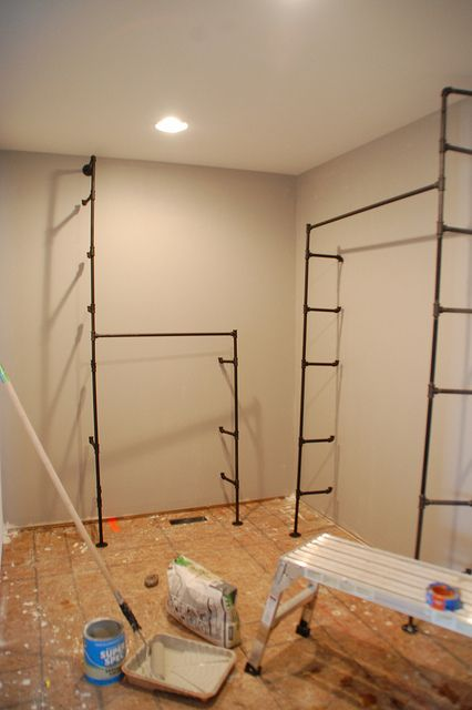 When Your Closet Is Nicer Than Your Living Space - DIYdiva DIY pipe closet