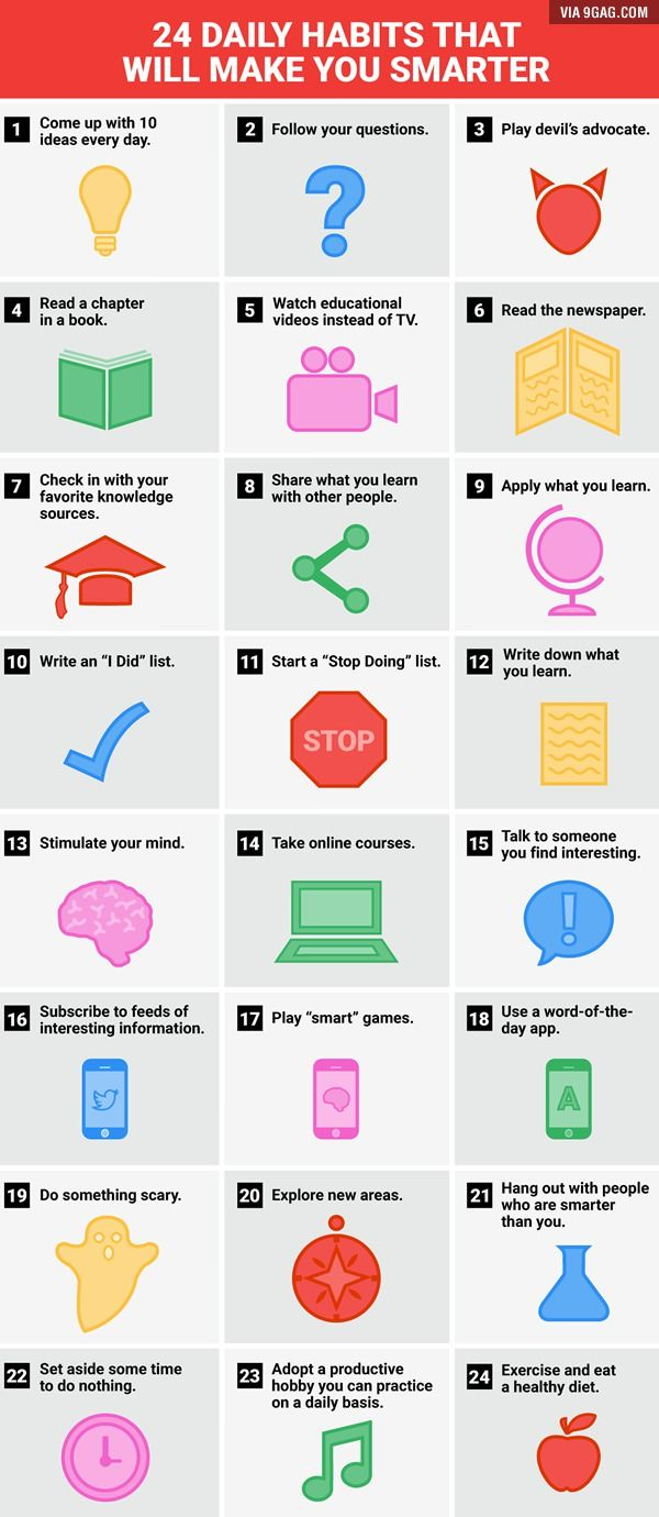 I should do that! 24 daily habits that will make you smarter