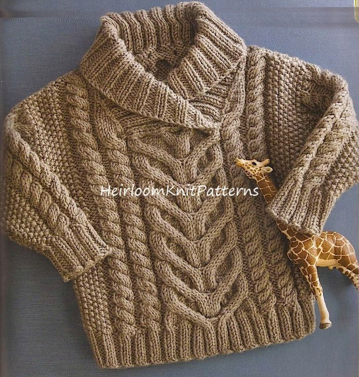 442) 6-18Months Baby/ Toddler Boy/ Girl's Stunning Fisherman's Pullover/ Cable Sweater, DK/ 8ply Knitting Pattern, Instant Download, PDF by HeirloomKnitPatterns on Etsy