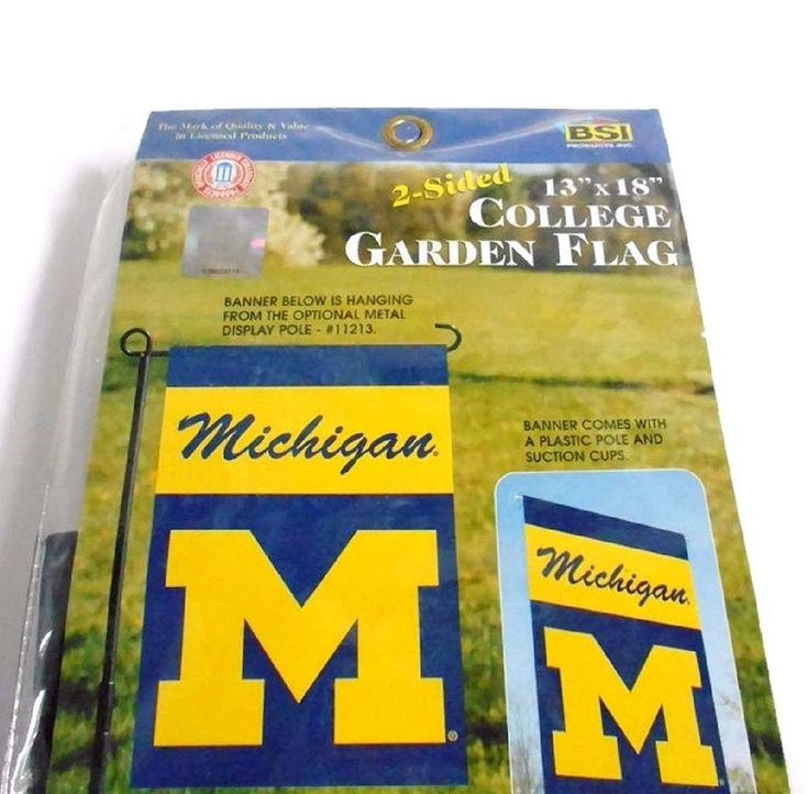 "Michigan State College Banner GARDEN FLAG 13"" x 18"" Polyester 2 Sided New In Pk  #BSIProducts #MichiganWolverinesMichiganStateSpartans"