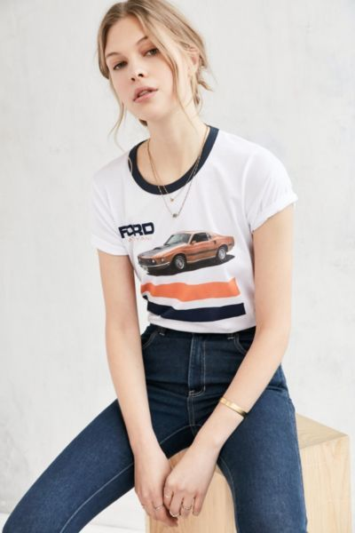 Junk Food Ford Mustang Ringer Tee - Urban Outfitters