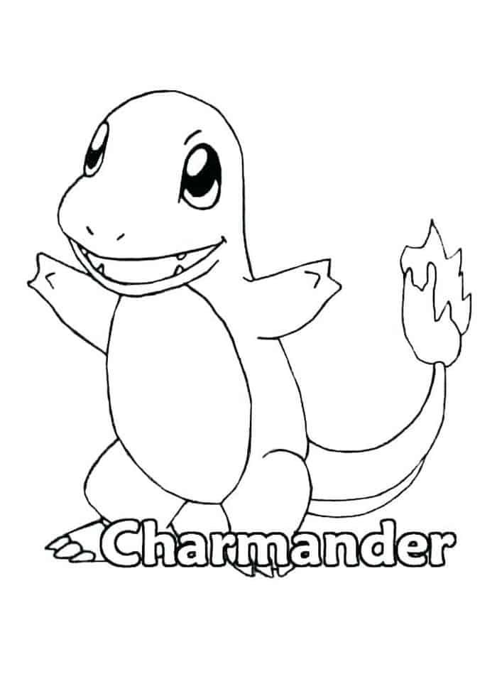 Pokemon Coloring Pages Charmander In 2020 Pokemon Coloring Pages Pokemon Coloring Cute Coloring Pages