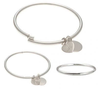 Just like magic! A classic, round, sterling silver or 9ct gold bangle that can easily have charms added... without soldering!  Made in Australia in the size you require. The bangle looks like a perfectly plain bangle - until you look really closely to find the secret. No hinges, no clasps, just a very simple yet ingenious opening mechanism in a tubular bangle.