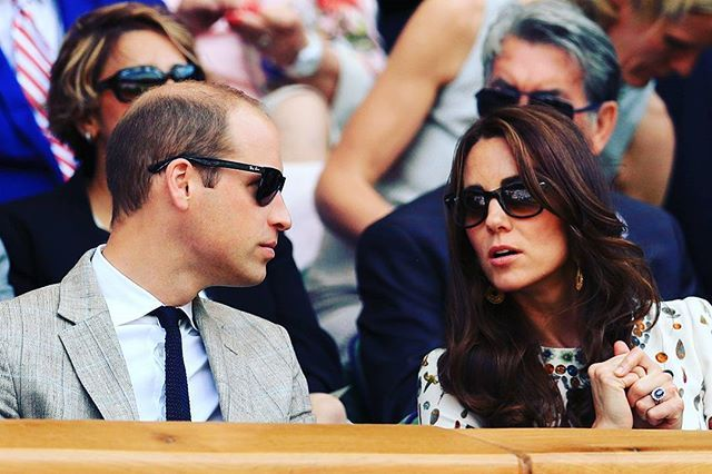 The Duke and Duchess of Cambridge attend the Men's final Wimbledon match between…