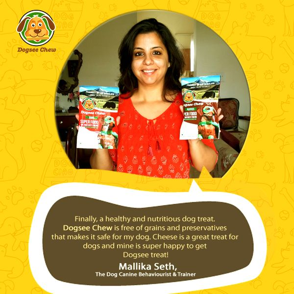 A big shout out to Ms.Mallika Seth, the #Dog Canine Behaviourist and Trainer who took her precious time to know and write about Dogsee chew. #Thanks a lot Mallika for all the appreciation and support. Hope your dog has been enjoying the healthy treat!