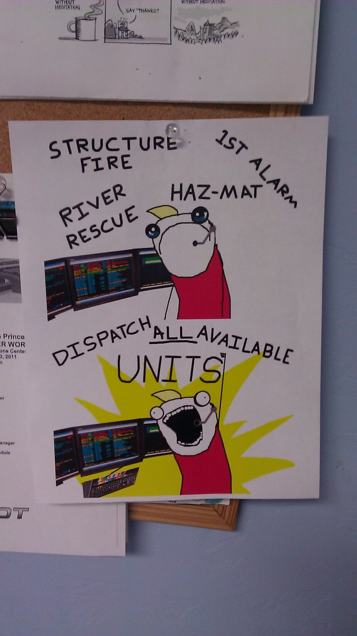 Saw this at a 911 dispatch center
