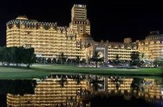 A sight to see – Waldorf Astoria Ras Al Khaimah lit at night.