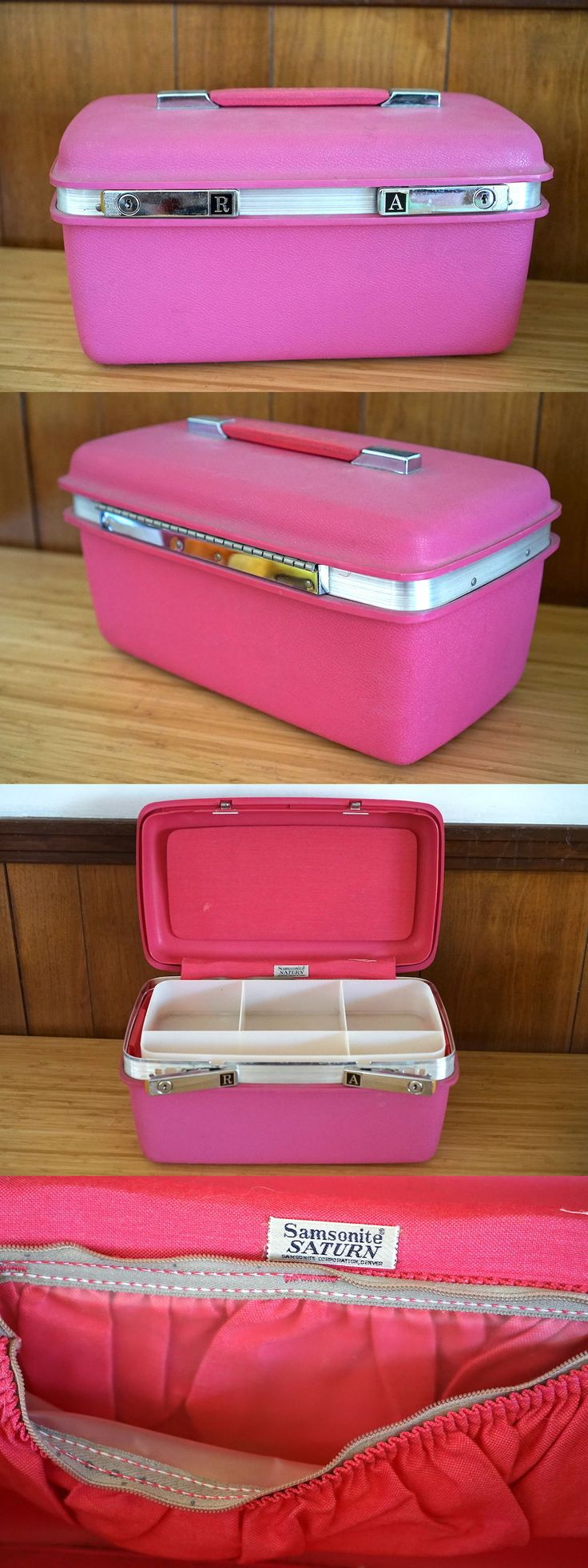 Vintage Luggage and Travel Accs 183477: Vintage Samsonite Pink Silhouette Train Case Makeup Carry On Luggage. -> BUY IT NOW ONLY: $49.99 on eBay!