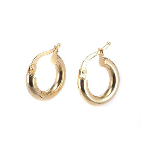 Σκουλαρίκια κρίκοι χρυσό Κ14 -7187