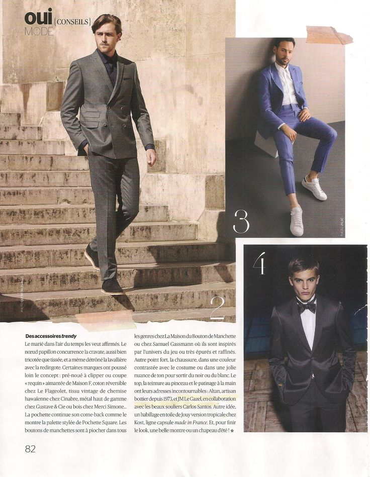 Carlos Santos in French Oui Magazine - Le mariage autrement. March 2016.