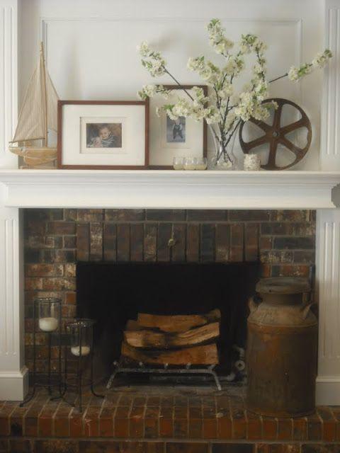 25 best cottage fireplace mantles images on Pinterest | Cottage ...