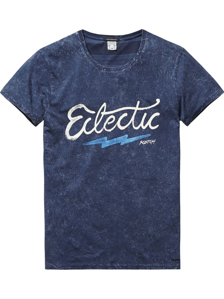 T-shirt léger en jersey |T-shirts & hauts m/c en jersey|Habillement Homme Scotch & Soda