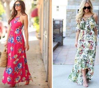 10 Muhteşem Çiçekli Maksi Elbiseler 2016 2017