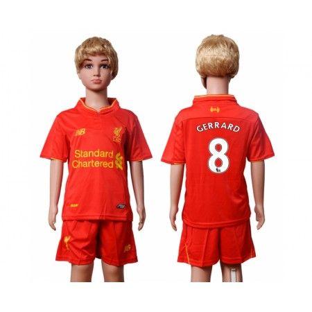 Liverpool Trøje Børn 16-17 #Gerrard 8 Hjemmebanetrøje Kort ærmer.199,62KR.shirtshopservice@gmail.com