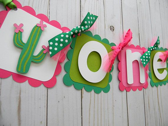 Cactus High Chair Banner Party Decorations Birthday Banner Etsy In 2020 Cactus Party Cactus Party Decor High Chair Banner